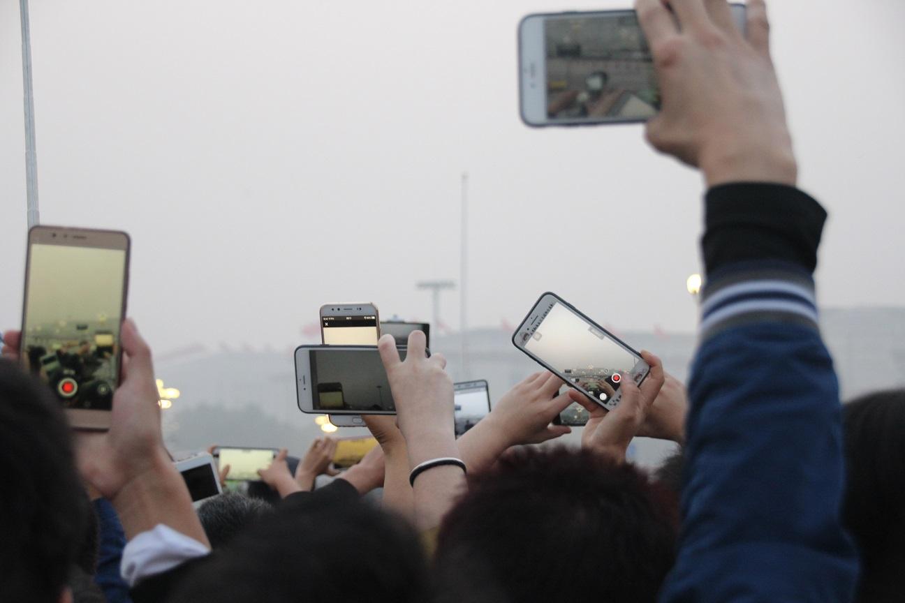 Chinesischer Nationalfeiertag auf dem Tiananmen-Platz Bild