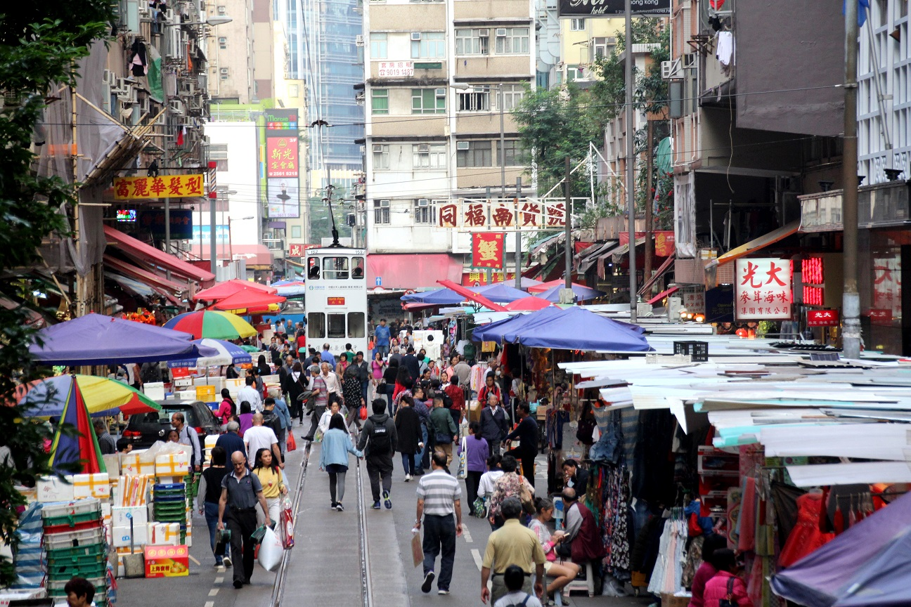 Die bunten Straßen Hongkongs Bild
