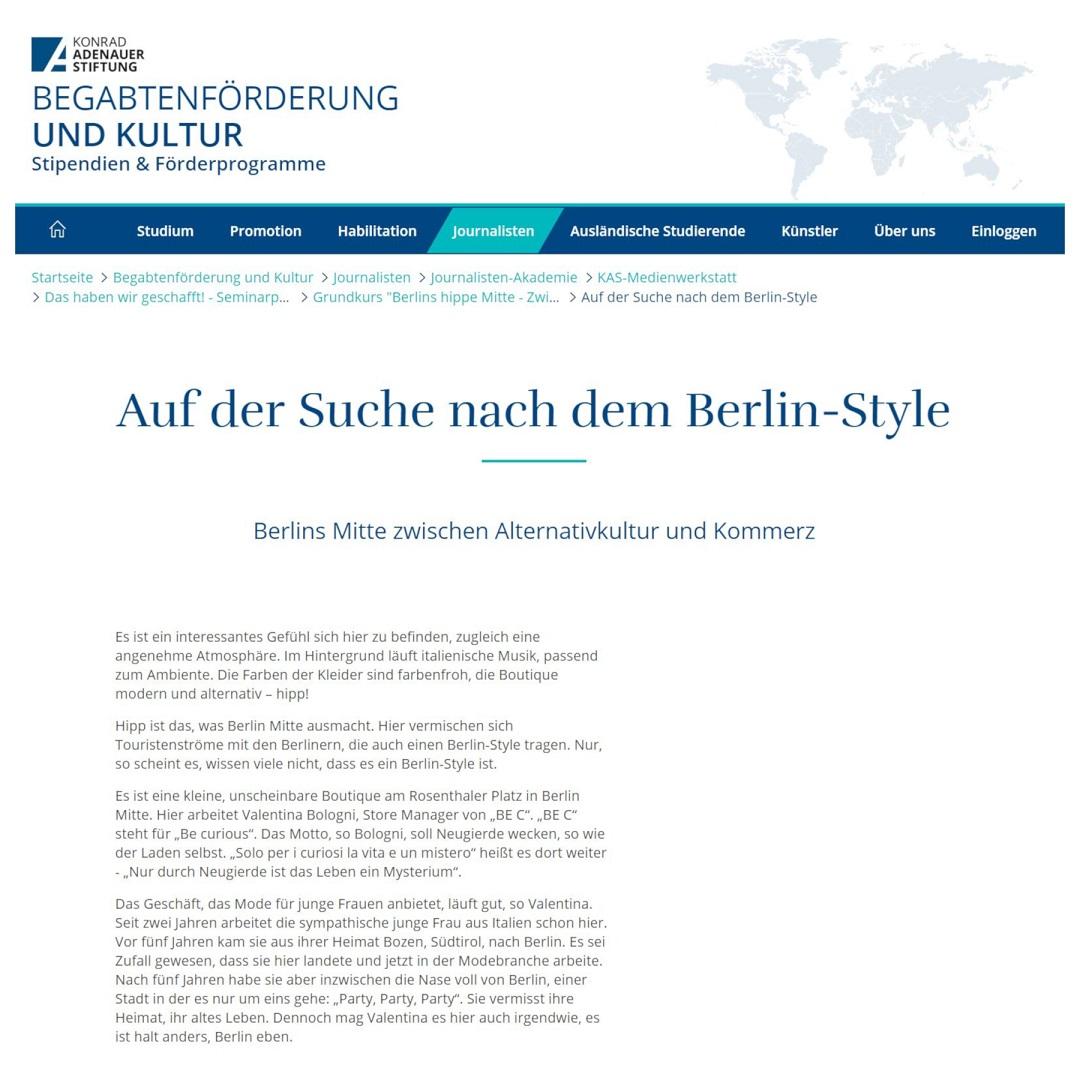 KAS Auf der Suche nach dem Berlin-Style