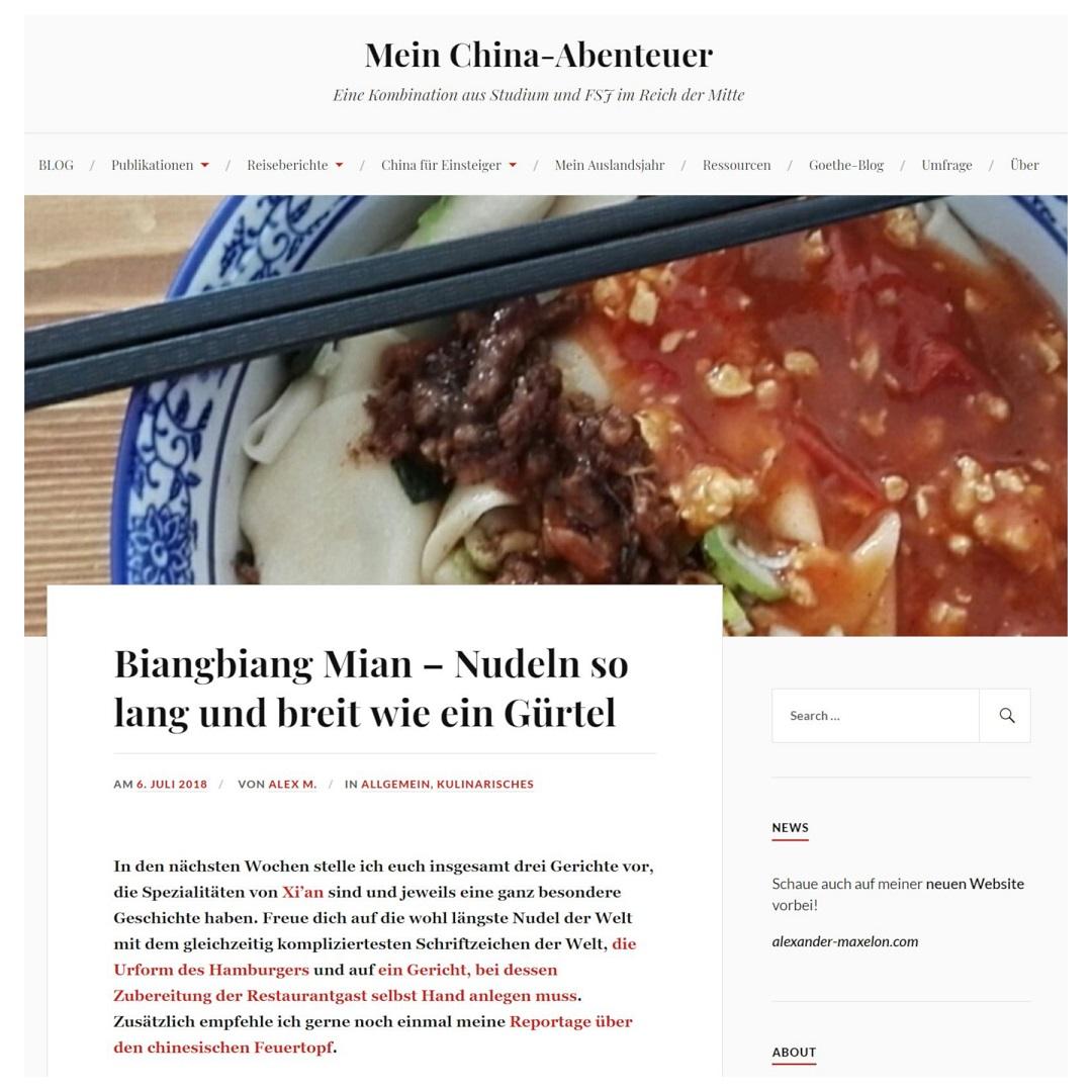 MeinChinaAbenteuer Biangbiang Mian