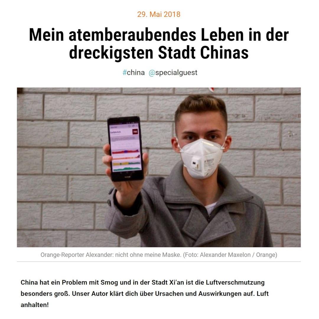 Orange by Handelsblatt Mein atemberaubendes Leben in der dreckigsten Stadt Chinas