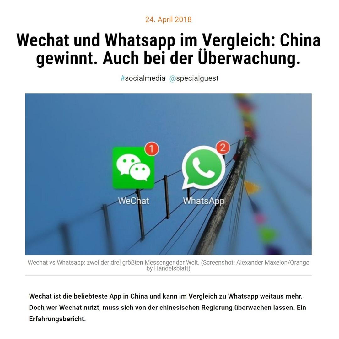 Orange by Handelsblatt Wechat und Whatsapp im Vergleich