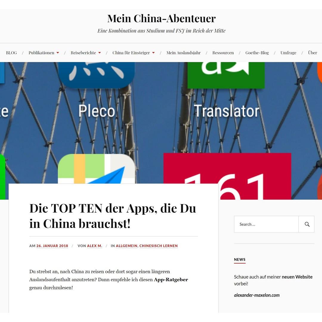 MeinChinaAbenteuer Die TOP TEN der Apps, die Du in China brauchst!