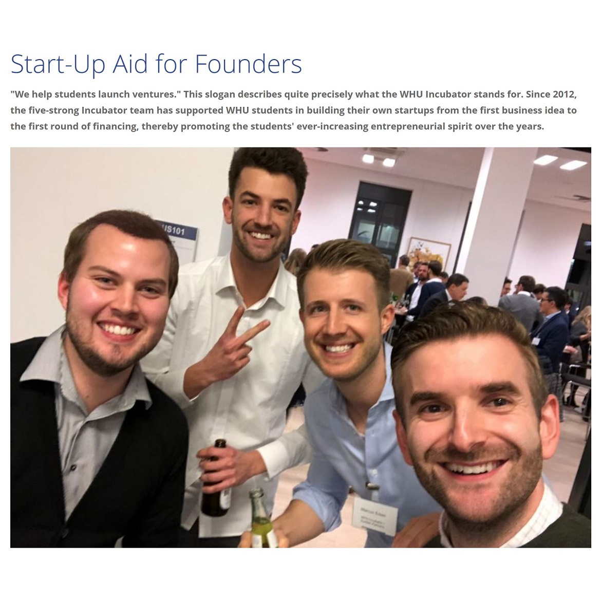 Start-Up Aid for Founders