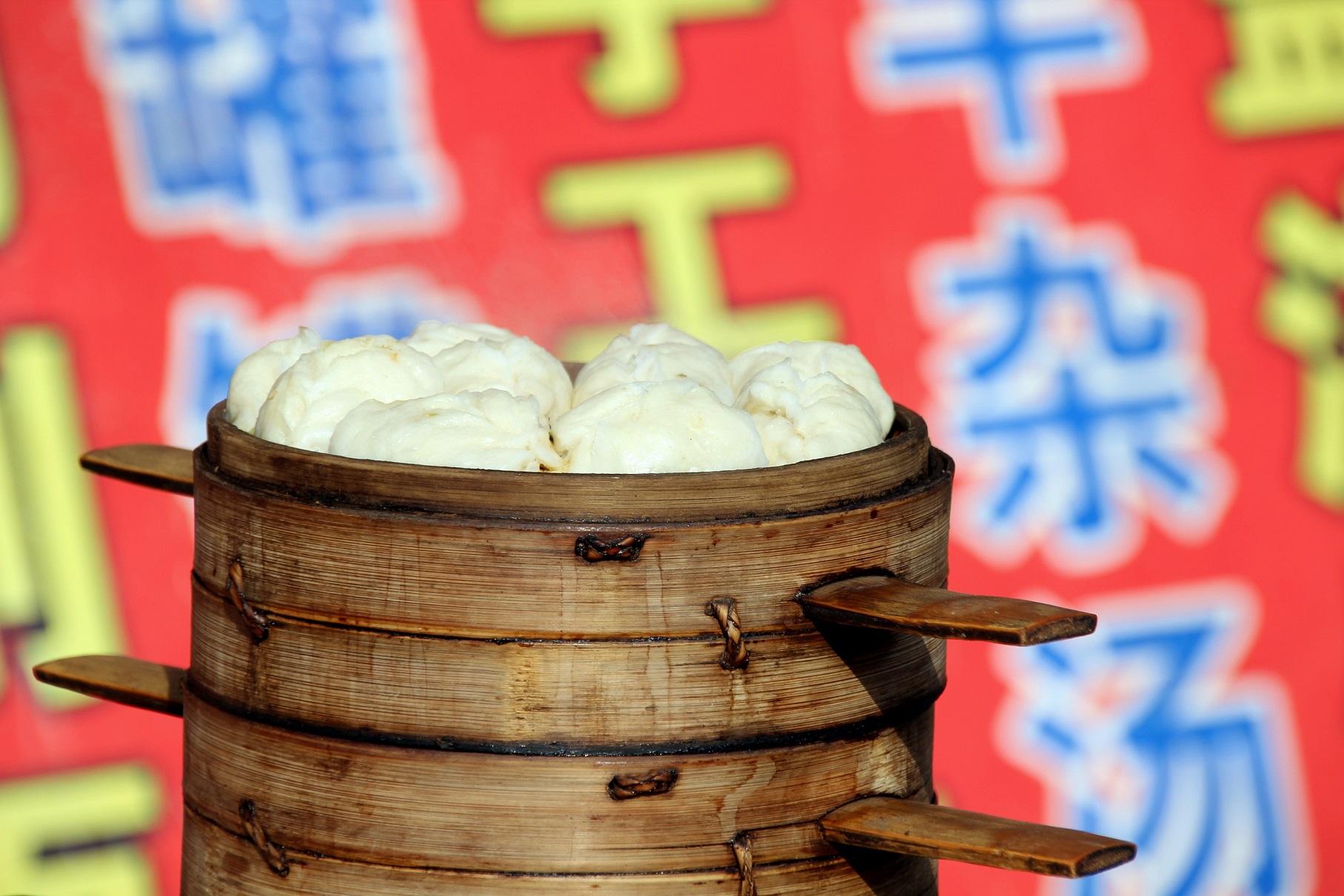 Baozi-Stand China Bild