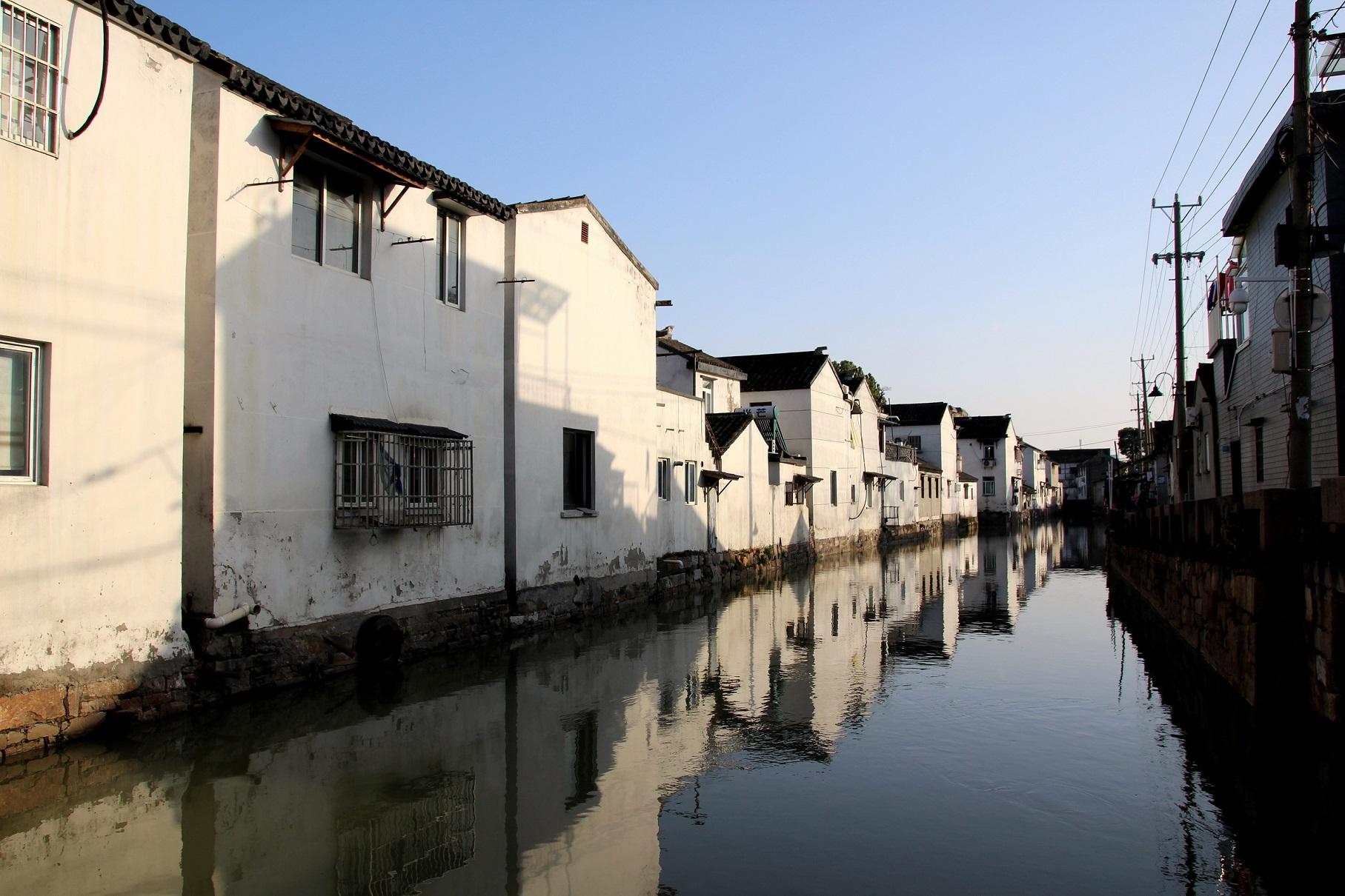 Wasserstraßen Suzhous Bild