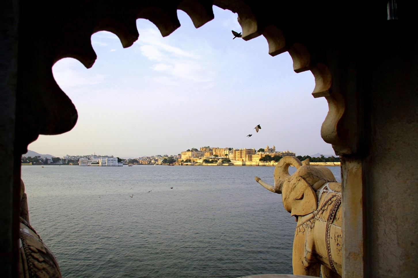 Blick auf Stadt-Palast Indien Bild