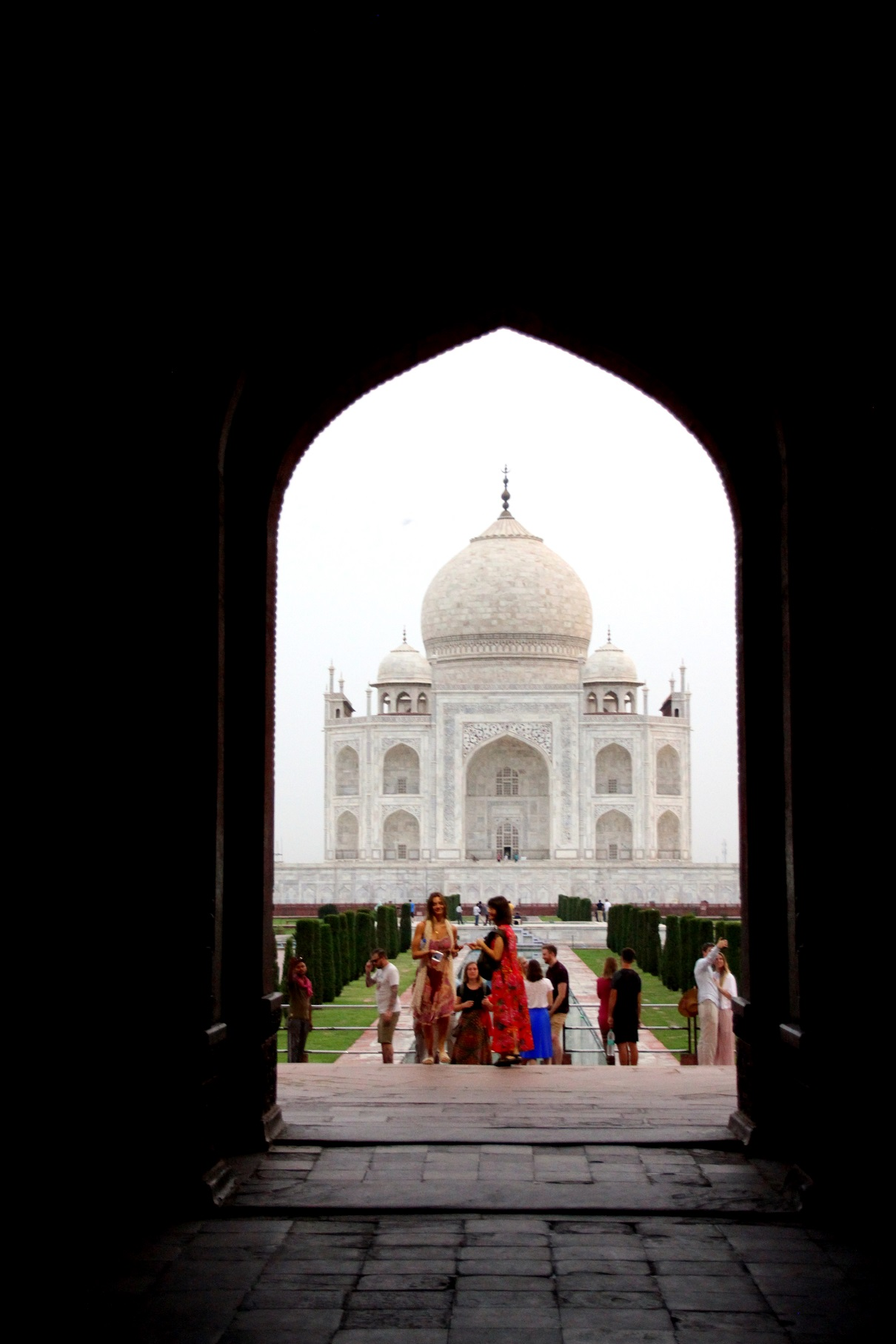 Buntes Taj Mahal Indien Bild