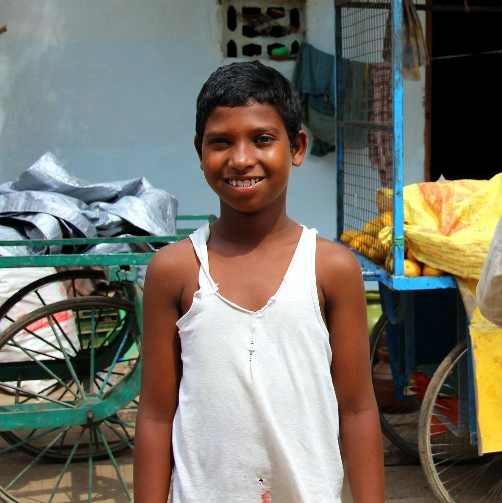 Lächelnder Junge Indien Bild