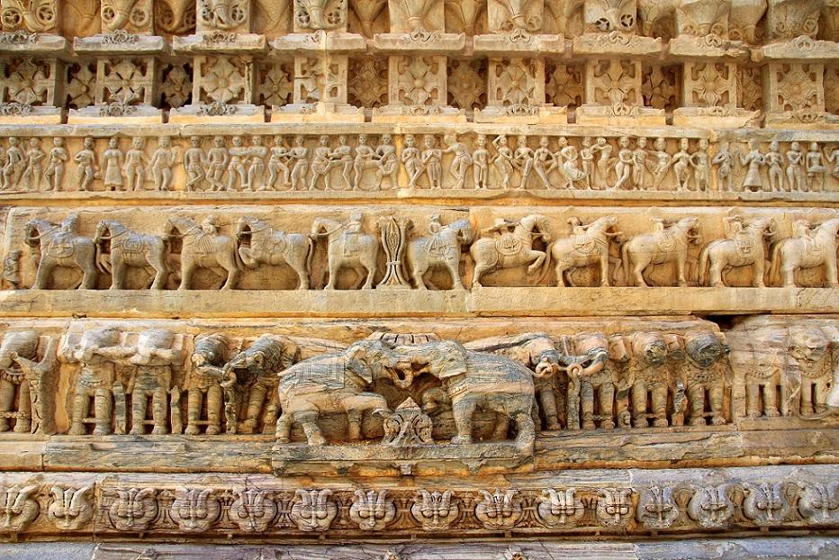 Tempeldetails Indien Bild