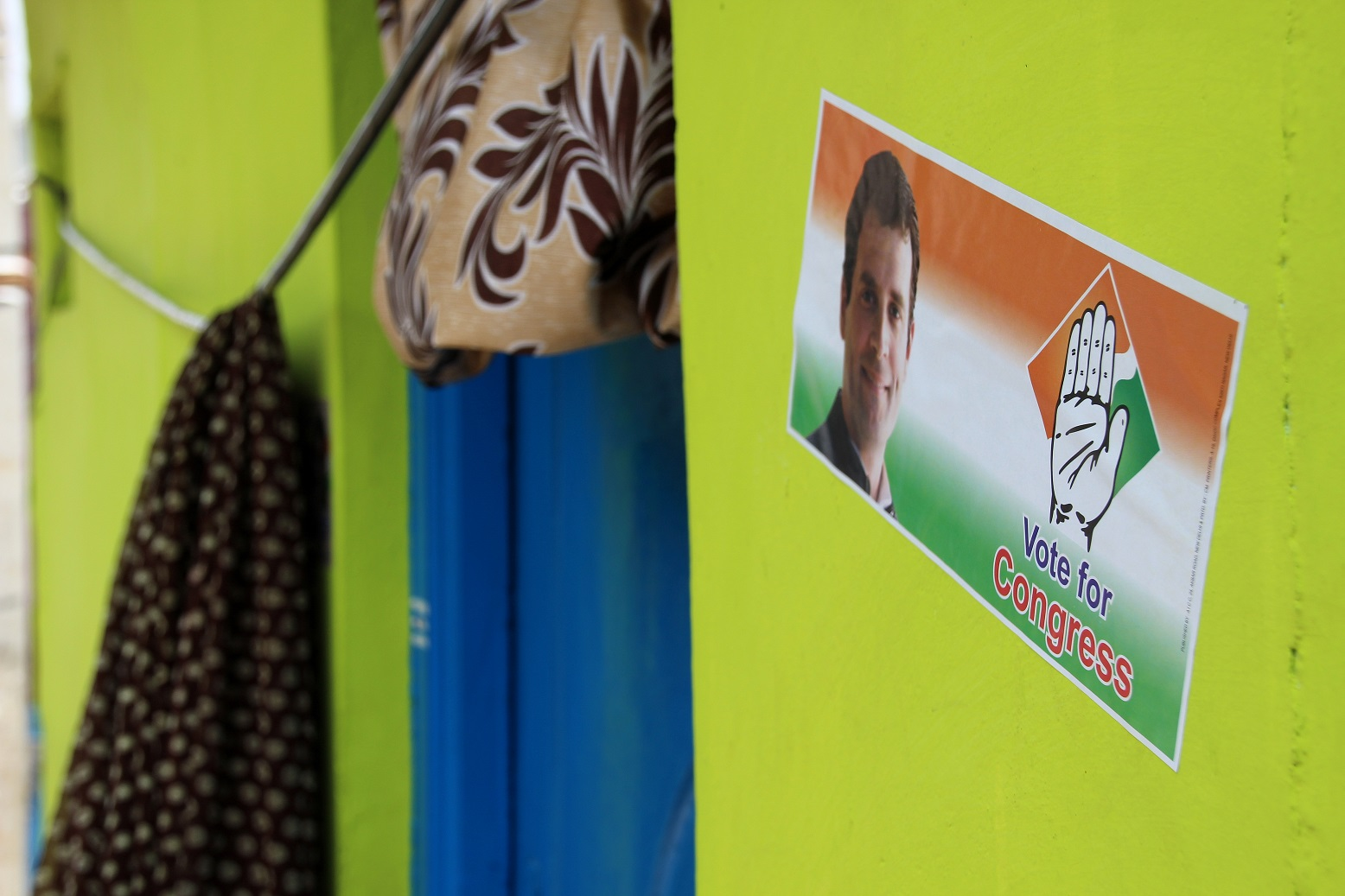 Vote for Congress Wahlplakat Indien Bild