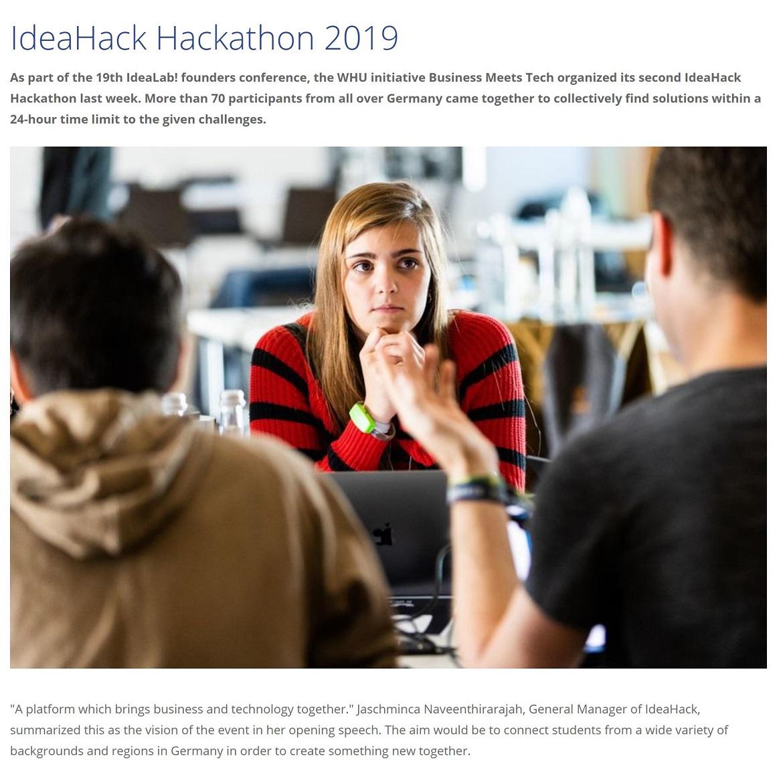 IdeaHack Hackathon