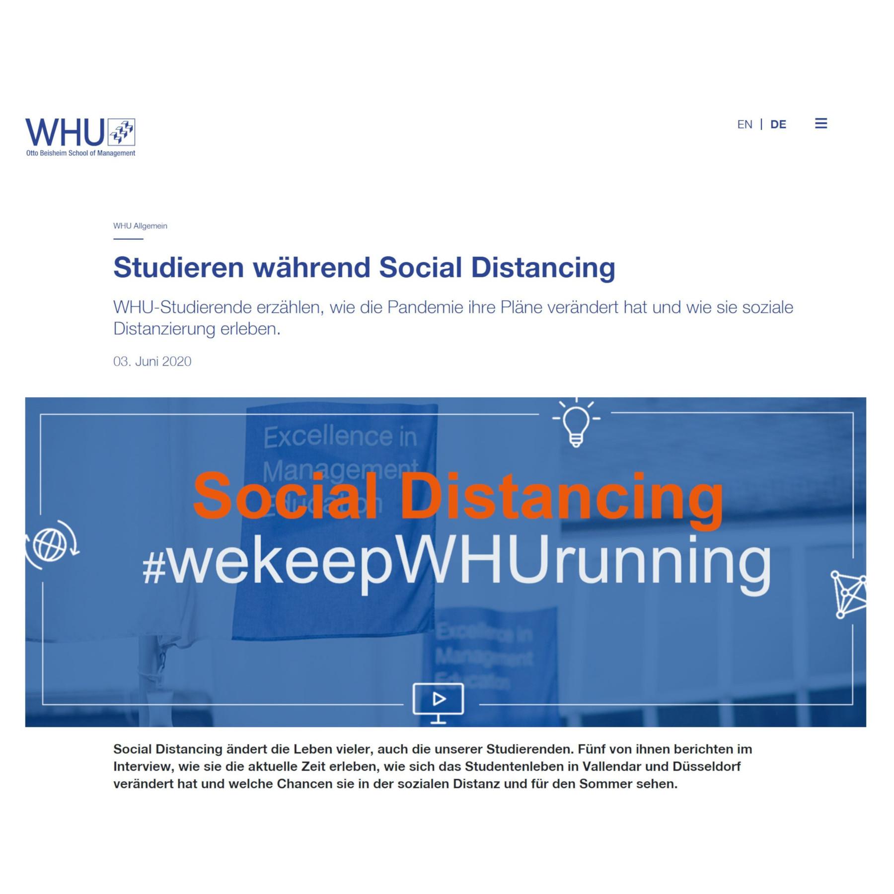 Studieren während Social Distancing