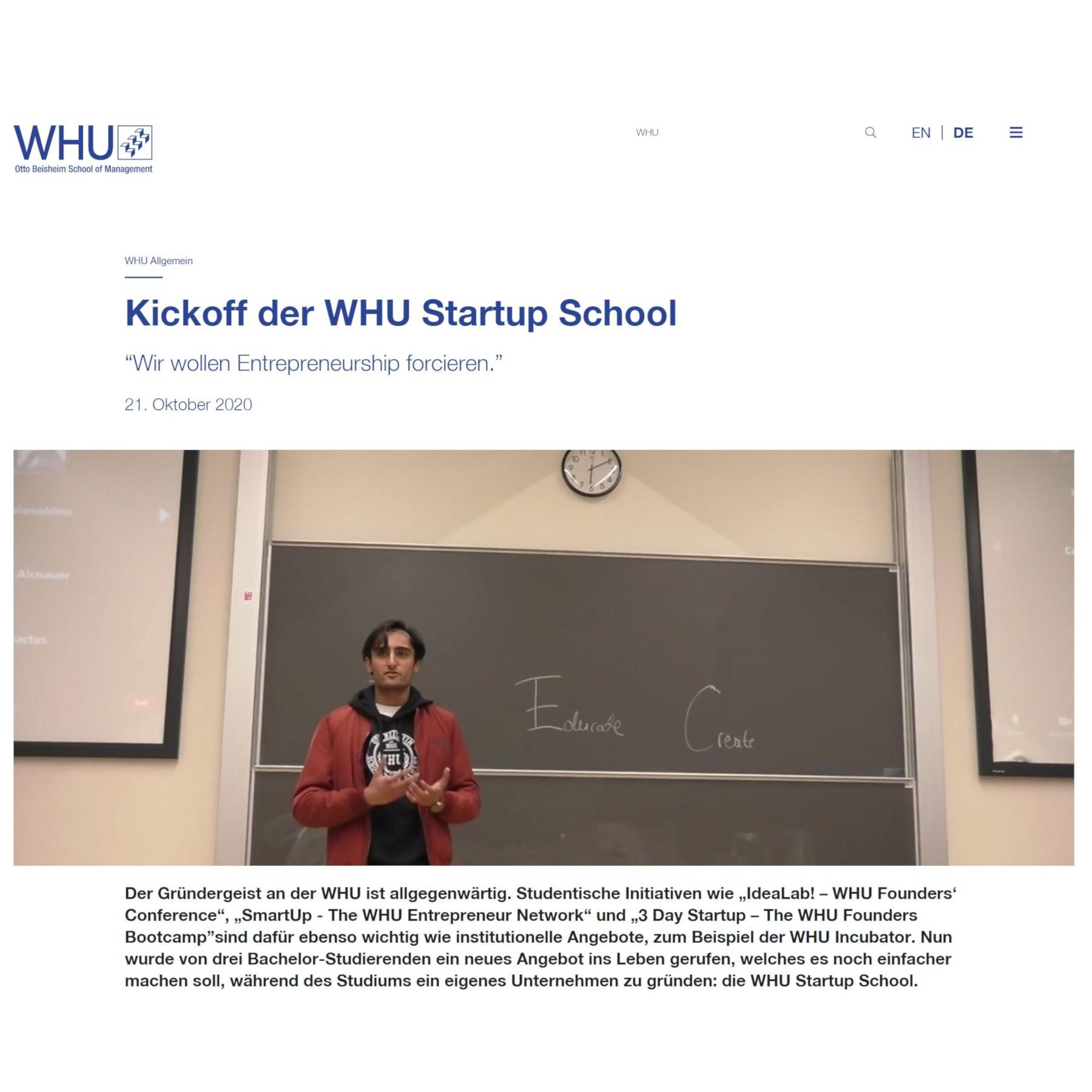 WHU Startup School