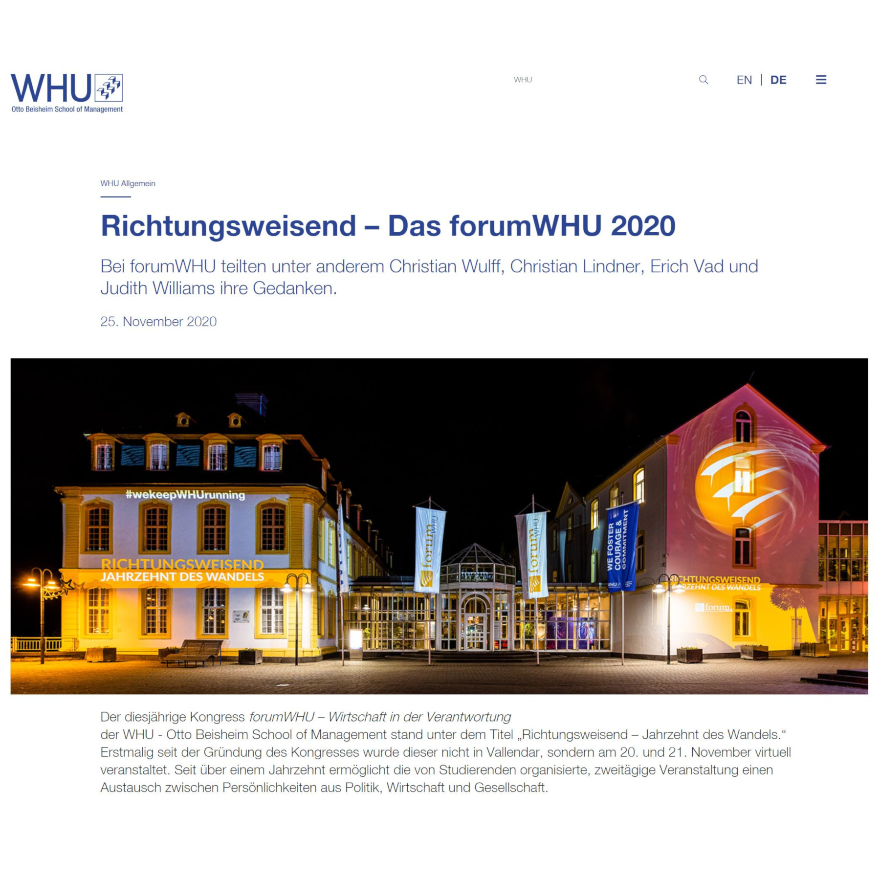 forumWHU 2020
