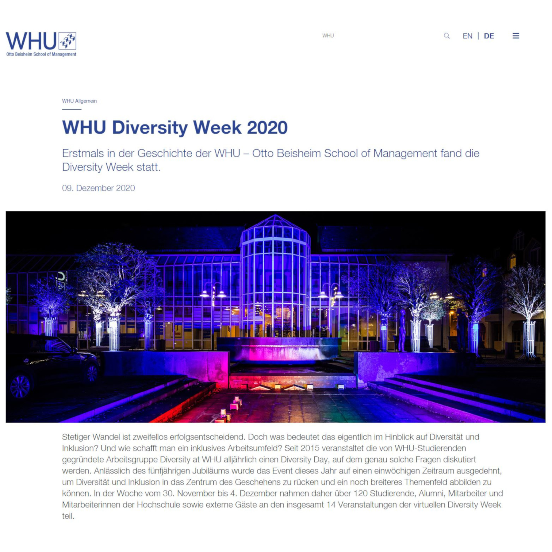 WHU Diversity Week 2020
